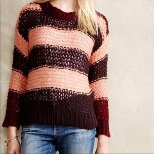 Anthropologie Lilis Closet Mohair Blend Sweater